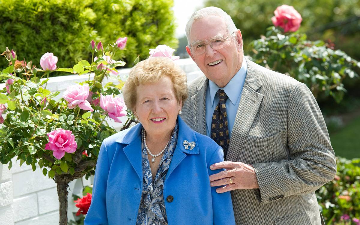 Donor Dan Mulvihill stands next to his wife, Mary, as the pair reflects on their decades-long commitment to the Scripps Mercy community.